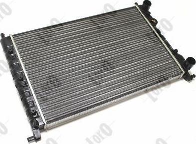 ABAKUS 0160170010 - Радіатор, охолодження двигуна autozip.com.ua