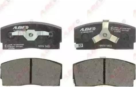 ABE C16006ABE - Гальмівні колодки, дискові гальма autozip.com.ua