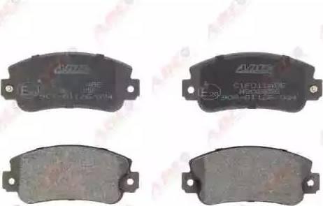 ABE C1F011ABE - Гальмівні колодки, дискові гальма autozip.com.ua