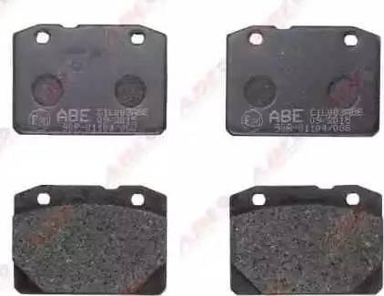 ABE C1L003ABE - Гальмівні колодки, дискові гальма autozip.com.ua