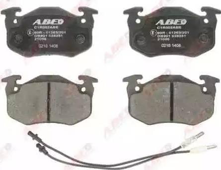 ABE C1R002ABE - Гальмівні колодки, дискові гальма autozip.com.ua