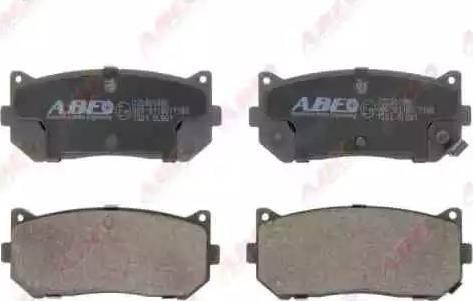 ABE C20301ABE - Гальмівні колодки, дискові гальма autozip.com.ua