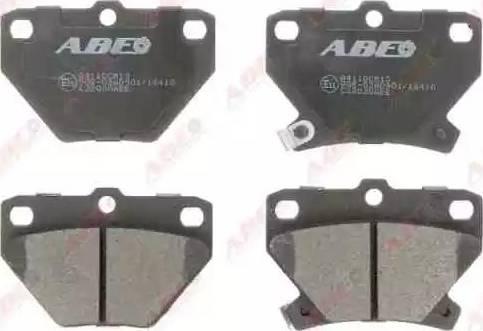ABE C22020ABE - Гальмівні колодки, дискові гальма autozip.com.ua