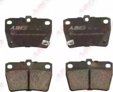 ABE C22027ABE - Гальмівні колодки, дискові гальма autozip.com.ua