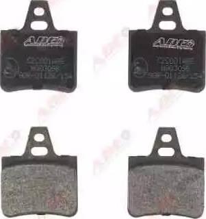 ABE C2C001ABE - Гальмівні колодки, дискові гальма autozip.com.ua