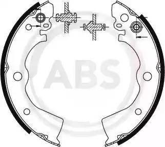 A.B.S. 8913 - Комплект гальм, барабанний механізм autozip.com.ua