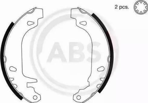 A.B.S. 8932 - Комплект гальм, барабанний механізм autozip.com.ua