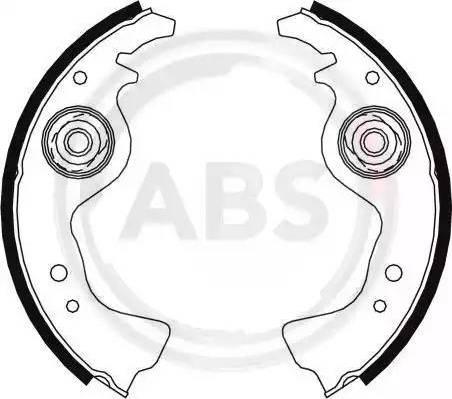 A.B.S. 8004 - Комплект гальм, барабанний механізм autozip.com.ua