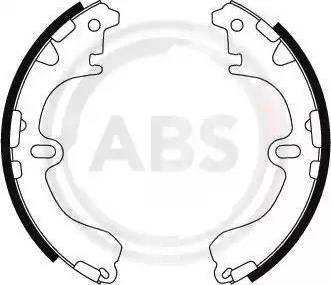 A.B.S. 8844 - Комплект гальм, барабанний механізм autozip.com.ua