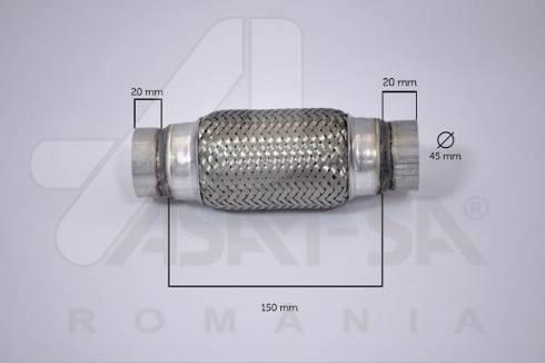 ASAM 60092 - Гофрована труба вихлопна система autozip.com.ua