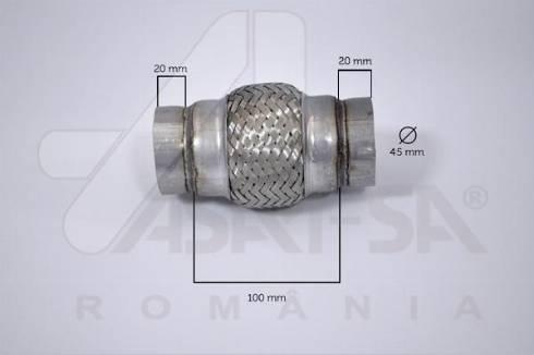 ASAM 62065 - Гофрована труба вихлопна система autozip.com.ua