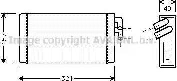 Ava Quality Cooling AI 6052 - Теплообмінник, опалення салону autozip.com.ua