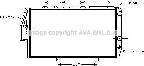 Ava Quality Cooling AI 2020 - Радіатор, охолодження двигуна autozip.com.ua