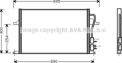 Ava Quality Cooling FD 5259 - Конденсатор, кондиціонер autozip.com.ua