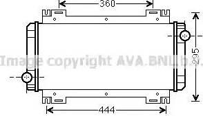 Ava Quality Cooling FD 2044 - Радіатор, охолодження двигуна autozip.com.ua