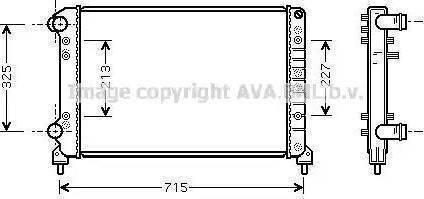 Ava Quality Cooling FTA2262 - Радіатор, охолодження двигуна autozip.com.ua