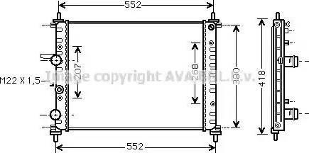 Ava Quality Cooling FTA 2182 - Радіатор, охолодження двигуна autozip.com.ua