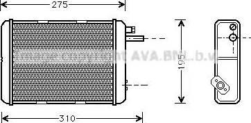 Ava Quality Cooling IV 6018 - Теплообмінник, опалення салону autozip.com.ua