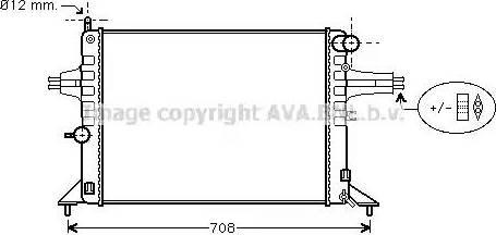 Ava Quality Cooling OL2272 - Радіатор, охолодження двигуна autozip.com.ua