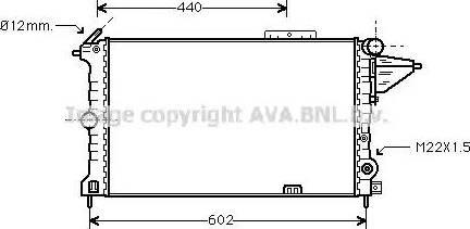 Ava Quality Cooling OLA2119 - Радіатор, охолодження двигуна autozip.com.ua
