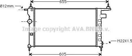 Ava Quality Cooling OLA2183 - Радіатор, охолодження двигуна autozip.com.ua