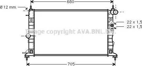Ava Quality Cooling OLA2244 - Радіатор, охолодження двигуна autozip.com.ua