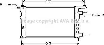 Ava Quality Cooling OLA2261 - Радіатор, охолодження двигуна autozip.com.ua