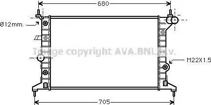 Ava Quality Cooling OLA2219 - Радіатор, охолодження двигуна autozip.com.ua
