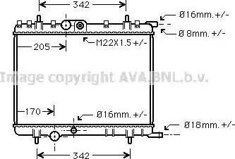 Ava Quality Cooling PE2300 - Радіатор, охолодження двигуна autozip.com.ua