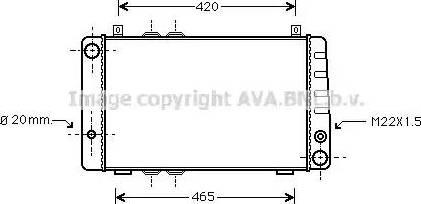 Ava Quality Cooling SA2002 - Радіатор, охолодження двигуна autozip.com.ua