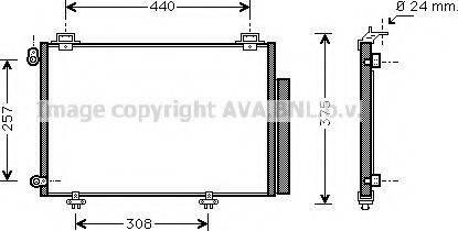 Ava Quality Cooling TO 5267 - Конденсатор, кондиціонер autozip.com.ua