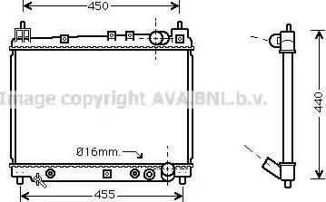 Ava Quality Cooling TO 2259 - Радіатор, охолодження двигуна autozip.com.ua