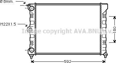 Ava Quality Cooling VN2011 - Радіатор, охолодження двигуна autozip.com.ua