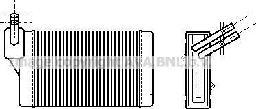 Ava Quality Cooling VNA6060 - Теплообмінник, опалення салону autozip.com.ua