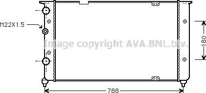 Ava Quality Cooling VNA2103 - Радіатор, охолодження двигуна autozip.com.ua