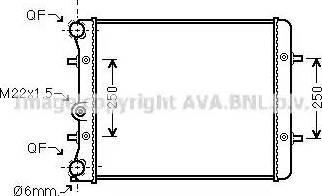 Ava Quality Cooling VW 2152 - Радіатор, охолодження двигуна autozip.com.ua