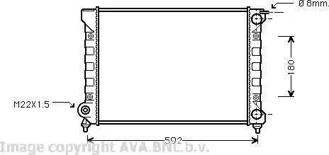 Ava Quality Cooling VWA2045 - Радіатор, охолодження двигуна autozip.com.ua