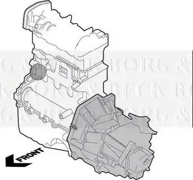 Borg & Beck BEM3466 - Подушка, підвіска двигуна autozip.com.ua