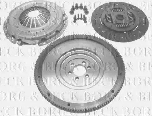 Borg & Beck HKF1040 - Комплект для переобладнання, зчеплення autozip.com.ua