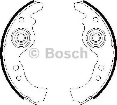 BOSCH 0986487030 - Комплект гальм, барабанний механізм autozip.com.ua