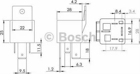 BOSCH 0986AH0080 - Блок управління, реле, система розжарювання autozip.com.ua