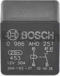 BOSCH 0986AH0251 - Реле, вентилятор радіатора autozip.com.ua