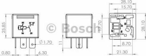 BOSCH 0986AH0204 - Багатофункціональний реле autozip.com.ua