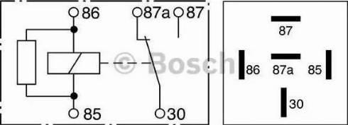 BOSCH 0332209206 - Реле, протиугінний пристрій autozip.com.ua
