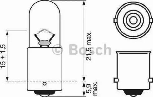 BOSCH 1987302207 - Лампа розжарювання, стоянкові вогні / габаритні ліхтарі autozip.com.ua