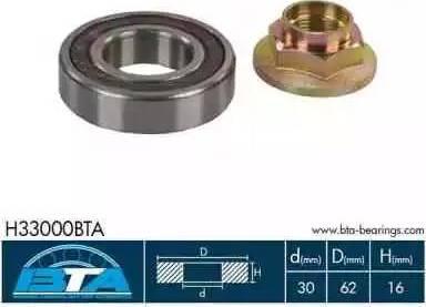 BTA H33000BTA - Підшипник, приводний вал autozip.com.ua