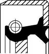 Corteco =19016639B - Ущільнене кільце, допоміжний привід autozip.com.ua