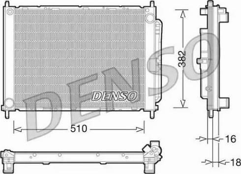 Denso DRM23101 - Модуль охолодження autozip.com.ua