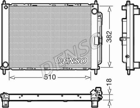 Denso DRM23111 - Модуль охолодження autozip.com.ua