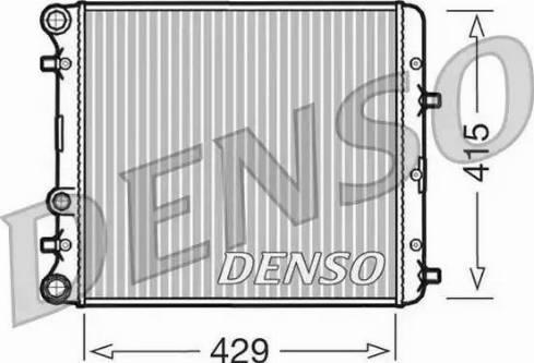 Denso DRM27002 - Радіатор, охолодження двигуна autozip.com.ua